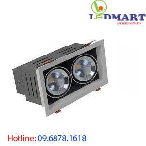 Đèn led âm trần vuông đôi rạng đông AT12 125x1259Wx2.DA